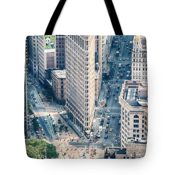 Flat Iron Building Tote Bag