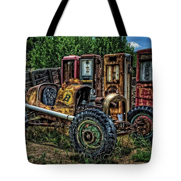 Tote Bag featuring the photograph Flathead Ford Racer by Ken Smith