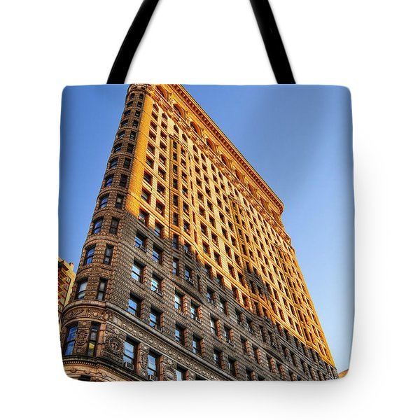 Flatiron Building Profile Too Tote Bag by Randy Aveille