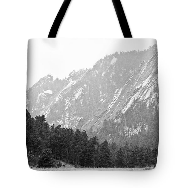 Flatiron In Black And White Boulder Colorado Tote Bag by James BO  Insogna