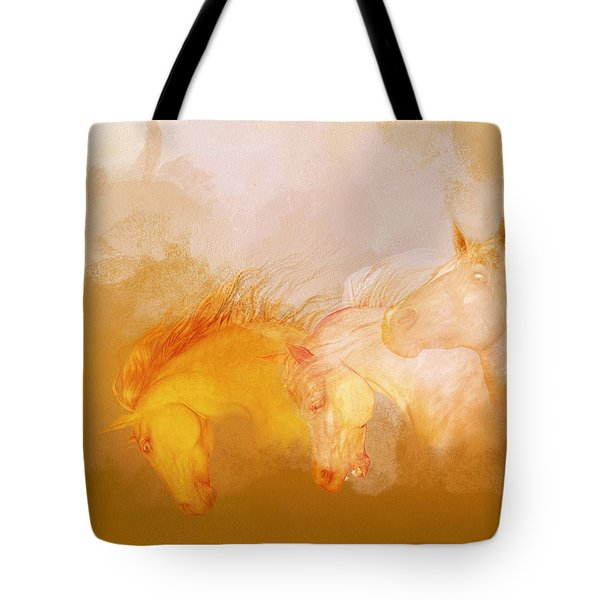 Flaxen Manes Tote Bag
