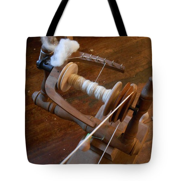 Tote Bag featuring the photograph Fleece To Yarn by Aliceann Carlton