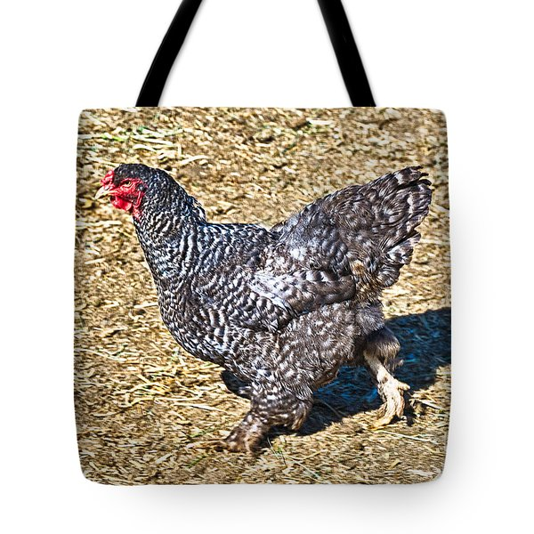 Fleeing From The Colonel ? Tote Bag by Bob and Nadine Johnston