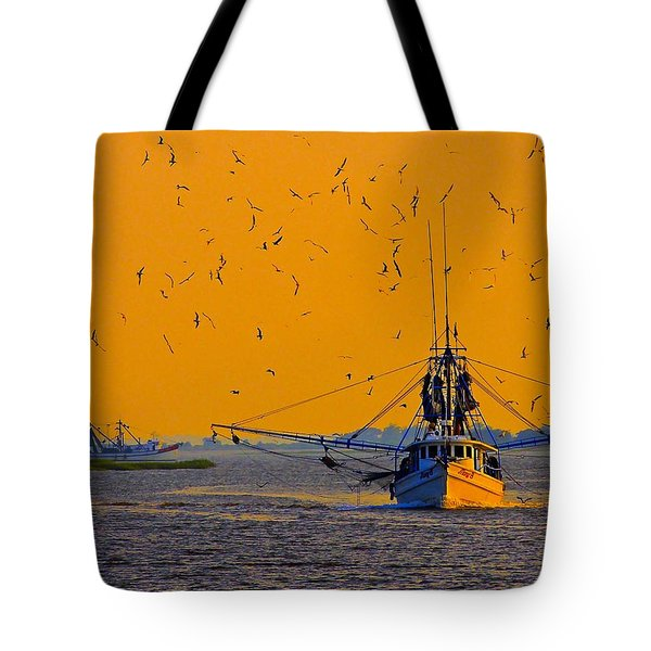 Tote Bag featuring the photograph Mary B With Escorts by Laura Ragland