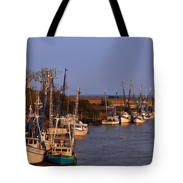 Tote Bag featuring the photograph Fleet's In by Laura Ragland