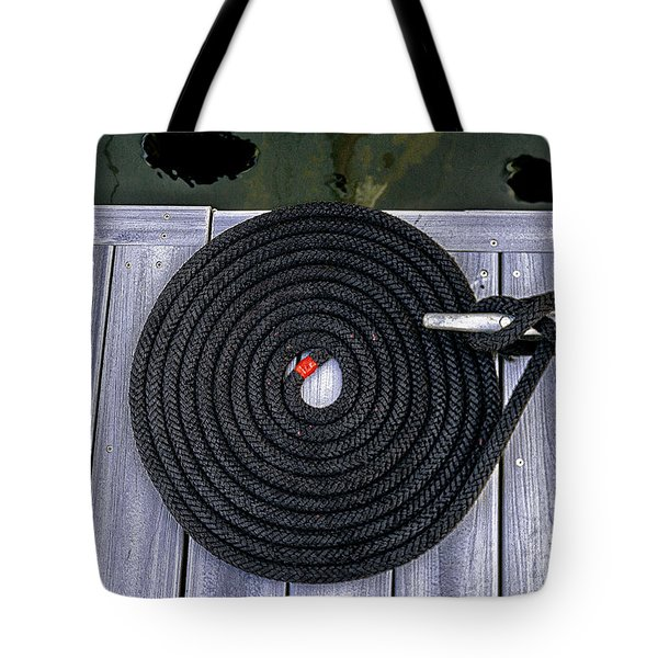 Flemish Flake Rope Coil Tote Bag