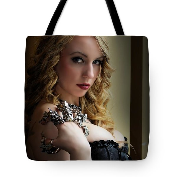 Flesh And Steel Finger Armor Tote Bag
