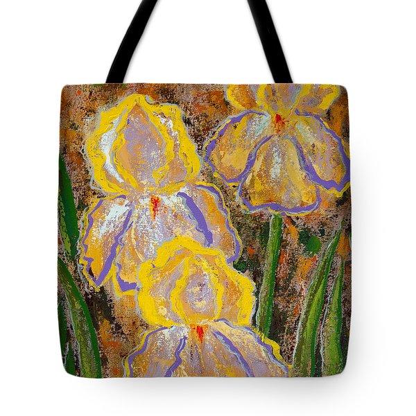 Fleur D' Iris Tote Bag by Margaret Bobb