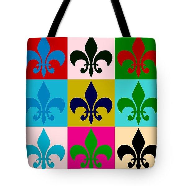 Fleur-de-lis Collage Tote Bag