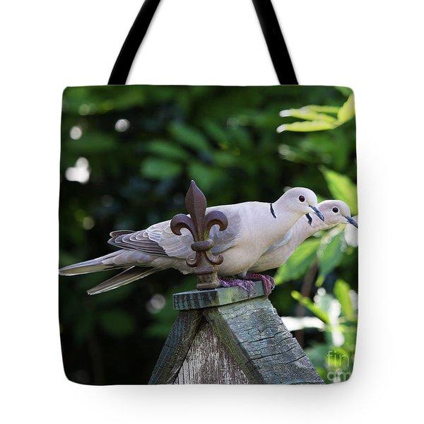 Fleur De Lis Dove Love Tote Bag