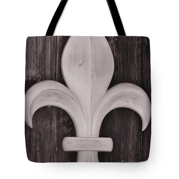 Fleur-de-lis Tote Bag by Janice Spivey