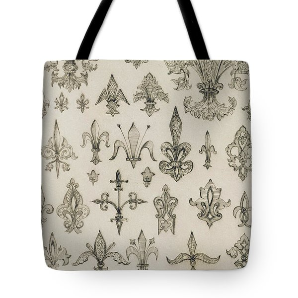Fleur De Lys Designs From Every Age And From All Around The World Tote Bag by Jean Francois Albanis de Beaumont