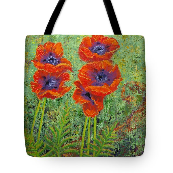 Fleurs Des Poppies Tote Bag by Margaret Bobb