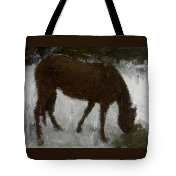 Tote Bag featuring the painting Flicka by Bruce Nutting