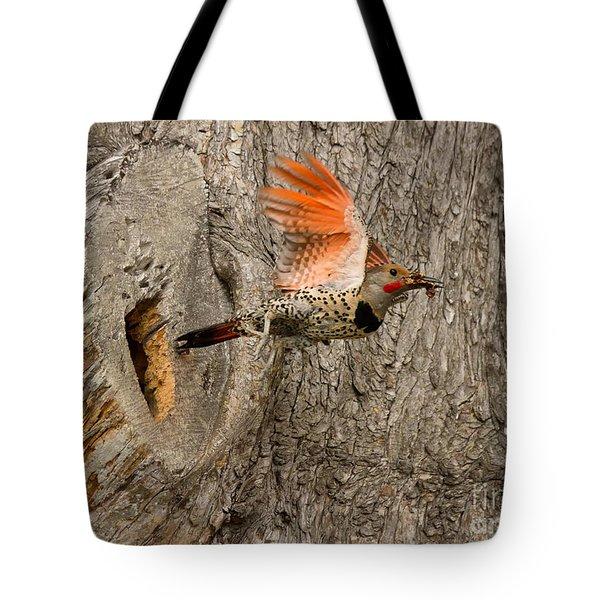 Flicker Flight Tote Bag by Alice Cahill