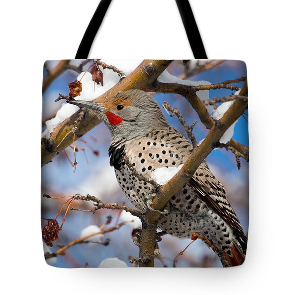 Flicker In Snow Tote Bag