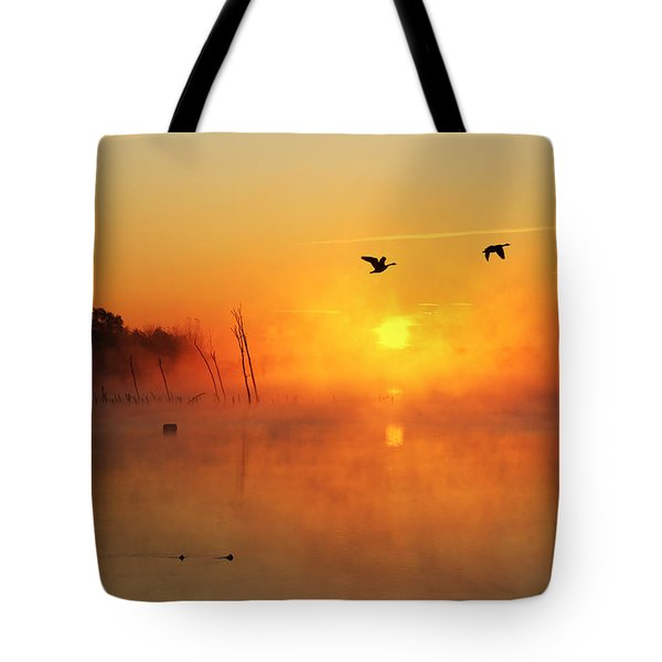Flight At Sunrise Tote Bag