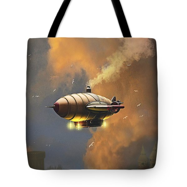 Flight At Sunset Tote Bag
