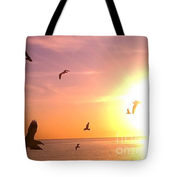 Flight Into The Light Tote Bag