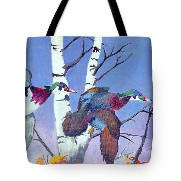 Tote Bag featuring the painting Flight Of Fancy by Jason Girard