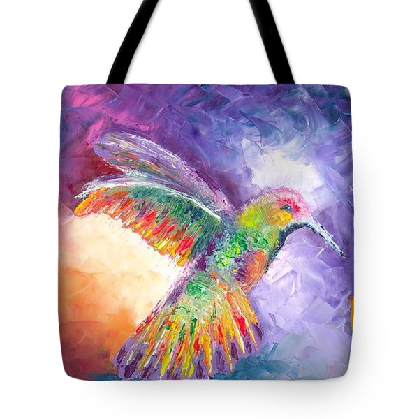 Tote Bag Featuring The Painting Flight Of Fancy By Jessilyn Park