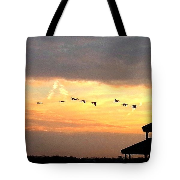 Tote Bag featuring the photograph Flight Of Freedom by Joetta Beauford