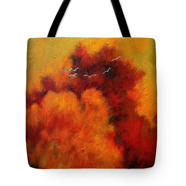Flight Of The White Birds Tote Bag