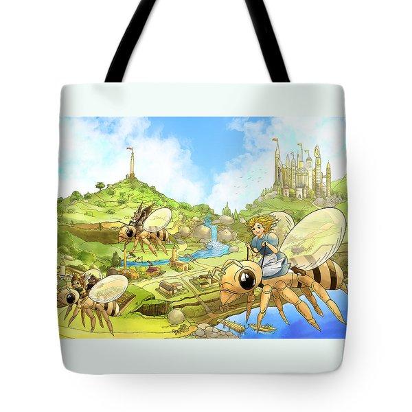 Flight Over Capira Tote Bag by Reynold Jay