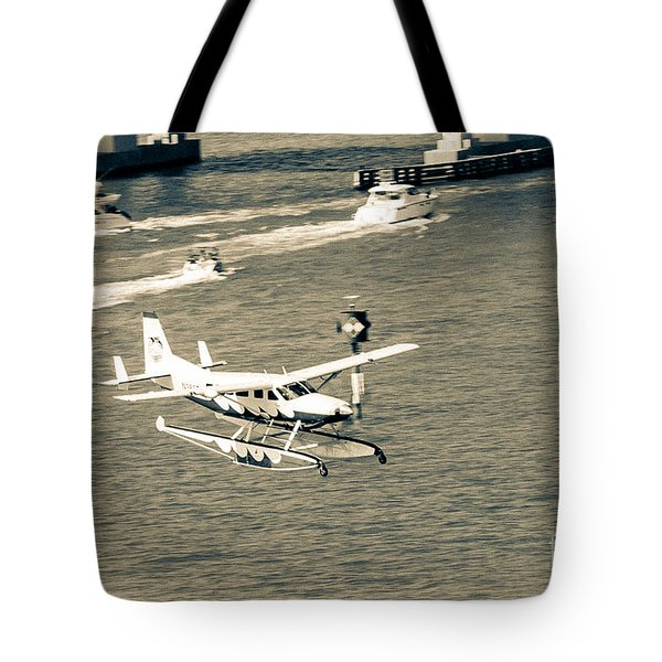 Flight- Landing In The Bay Tote Bag by Rene Triay Photography