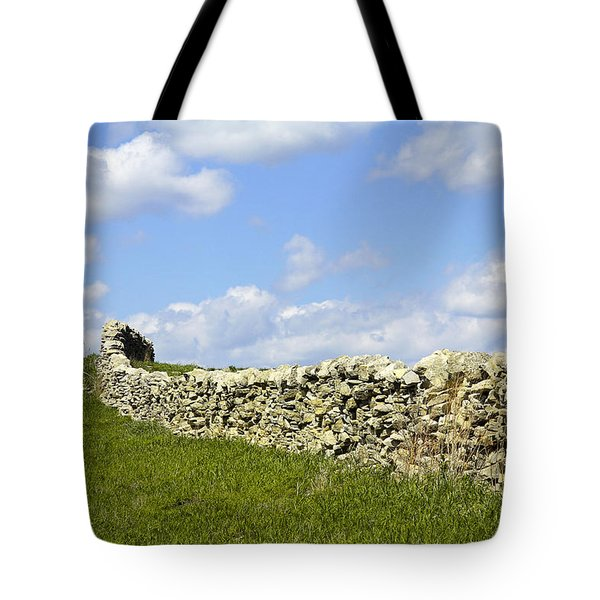 Tote Bag featuring the photograph Flint Hills Rock Fence by Steven Bateson