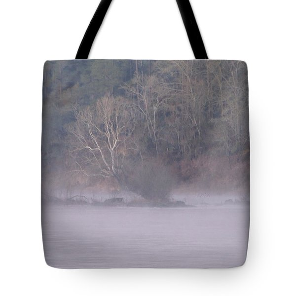 Tote Bag featuring the pyrography Flint River 10 by Kim Pate