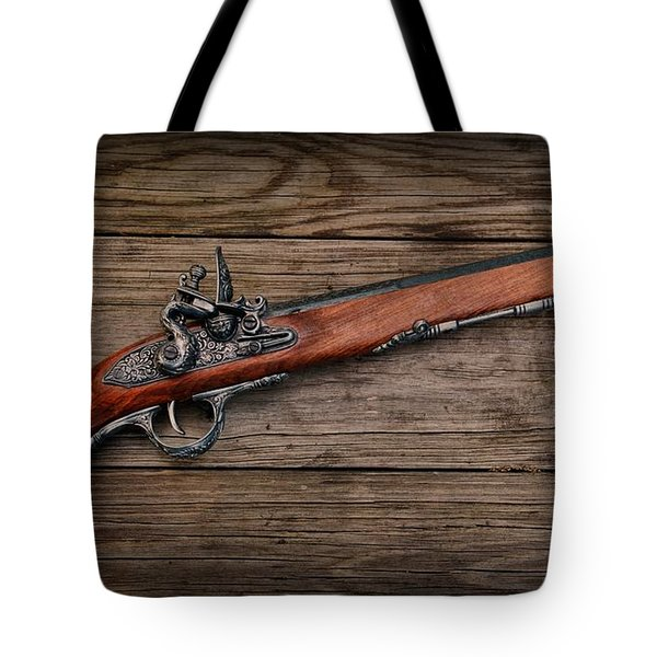 Flintlock Blunderbuss Pistol Tote Bag by Paul Ward