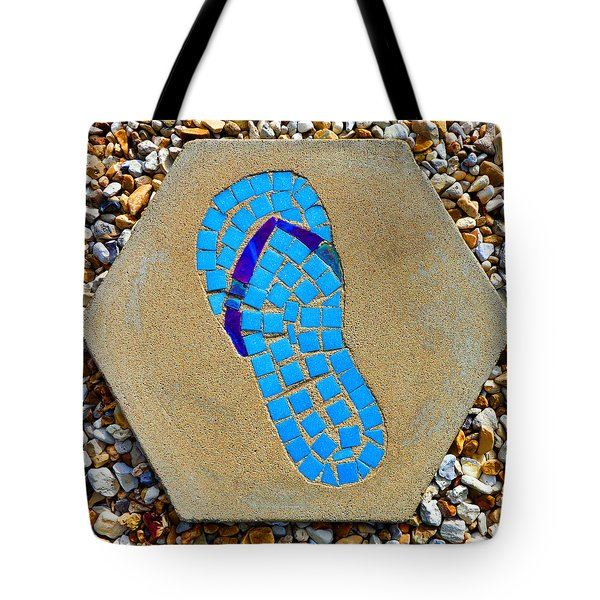 Square Flip Flop Stepping Stone Two Tote Bag