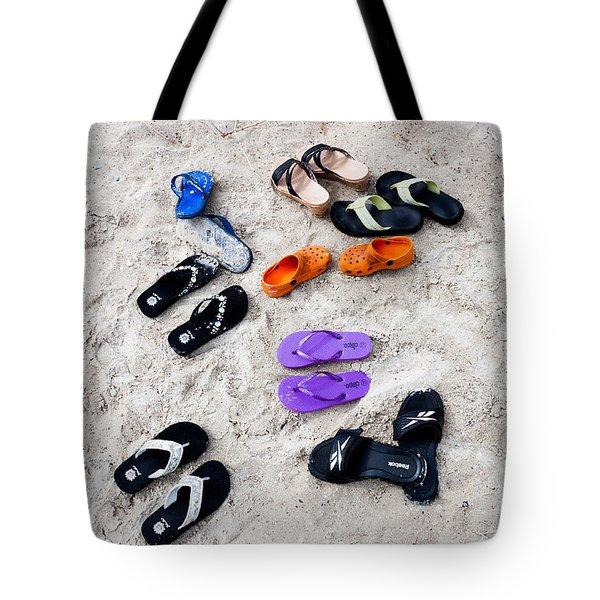 Flip Flops On The Beach Tote Bag