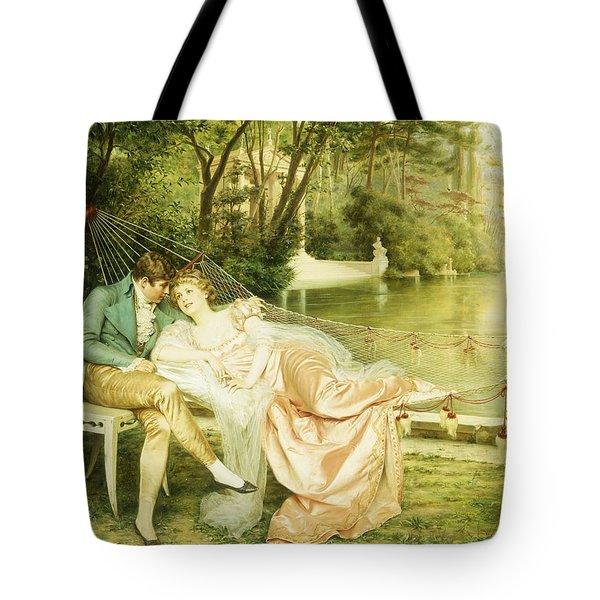 Flirtation  Tote Bag by Joseph Frederick Charles Soulacroix