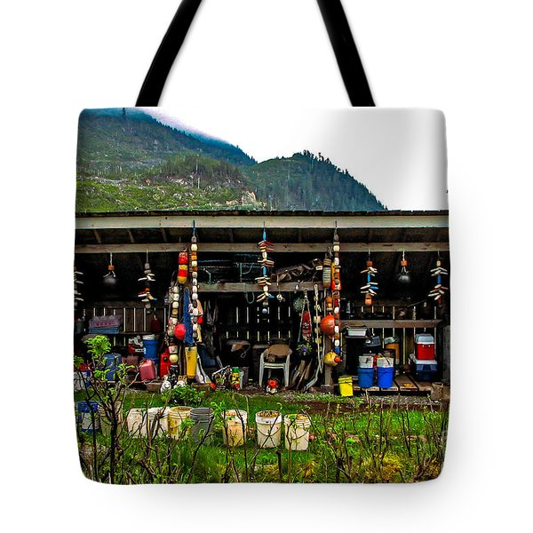 Float House Tote Bag by Robert Bales