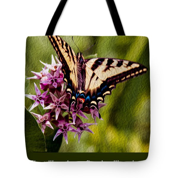 Float Like A Butterfly Tote Bag