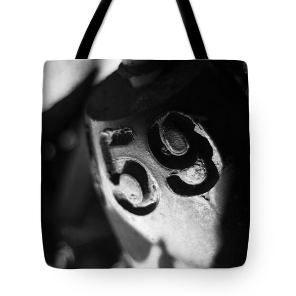Tote Bag featuring the photograph Float Number 59 - Black And White by Rebecca Sherman