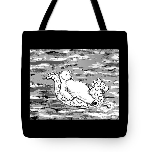 Floating Bear Grisaille Tote Bag