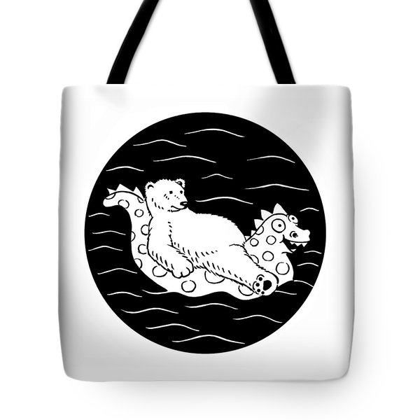 Floating Bear Tote Bag