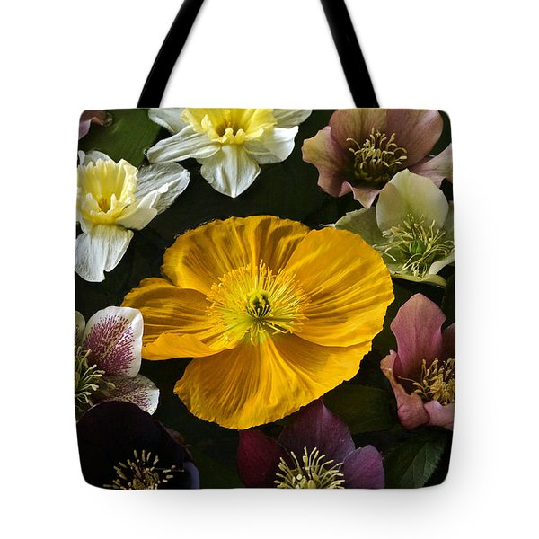 Floating Bouquet Of Early April Flowers Tote Bag