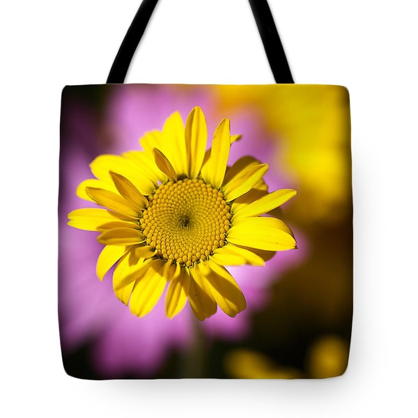 Tote Bag featuring the photograph Floating Daisy by Joy Watson