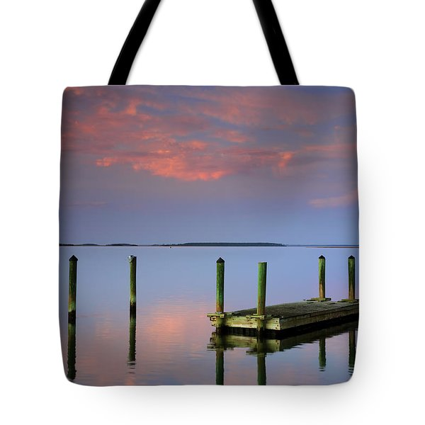 Floating Docks Tote Bag by Phill Doherty