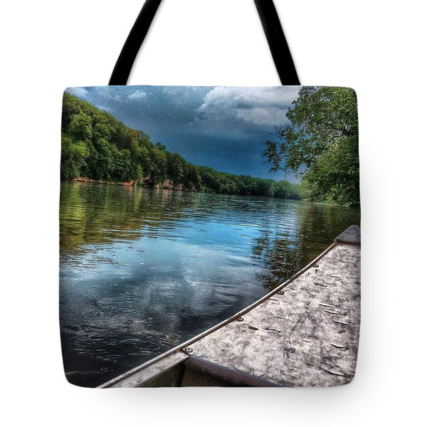 Floating Down The Fox River Tote Bag
