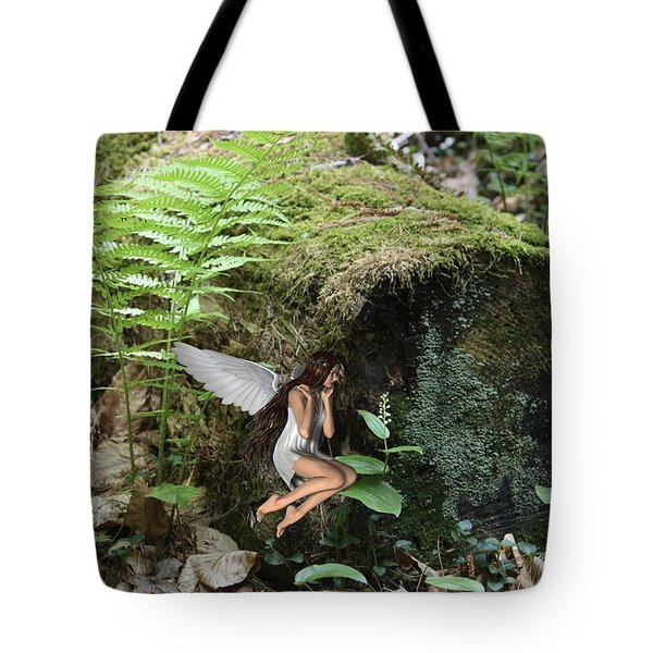 Floating Fairy In Forest Tote Bag
