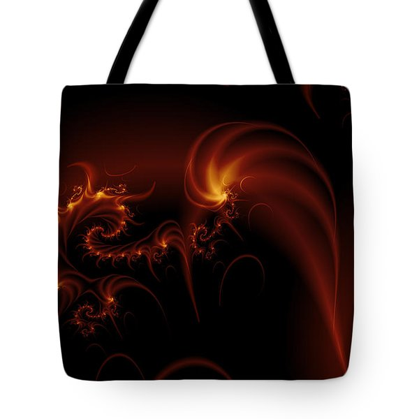 Floating Fire Fractal Tote Bag
