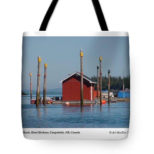 Floating Fish Shack Bay Of Fundy Nb Tote Bag