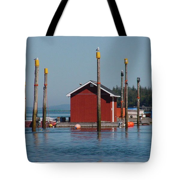 Floating Fish Shack Bay Of Fundy Nb Tote Bag