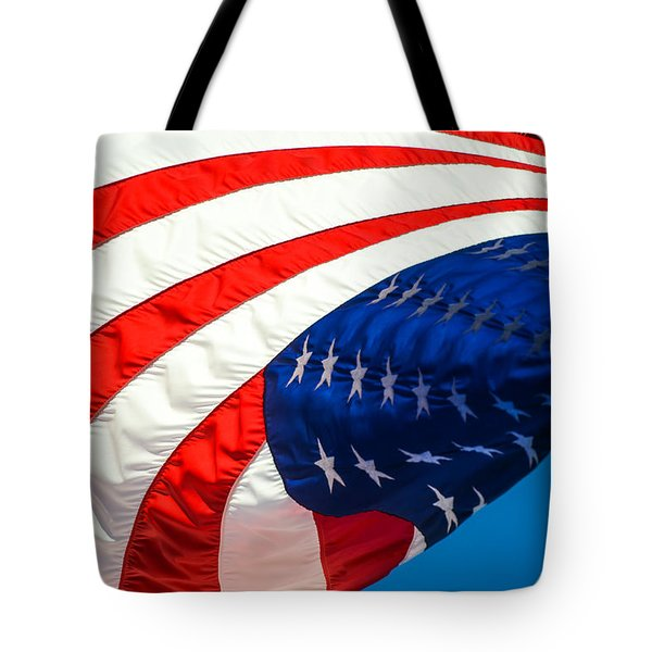 Floating Flag  Tote Bag by Mary Ward