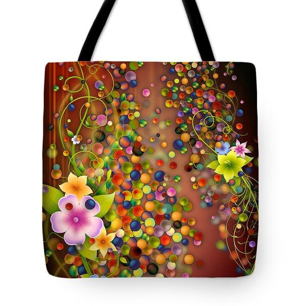 Floating Fragrances - Red Version Tote Bag by Bedros Awak
